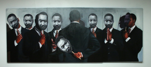 Congregation MLK, 120 x 48, Oil on canvas, 2015