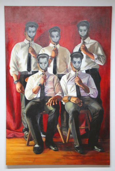 Class Photo #1 Baldwin, 72 x 48, Oil on canvas, 2015