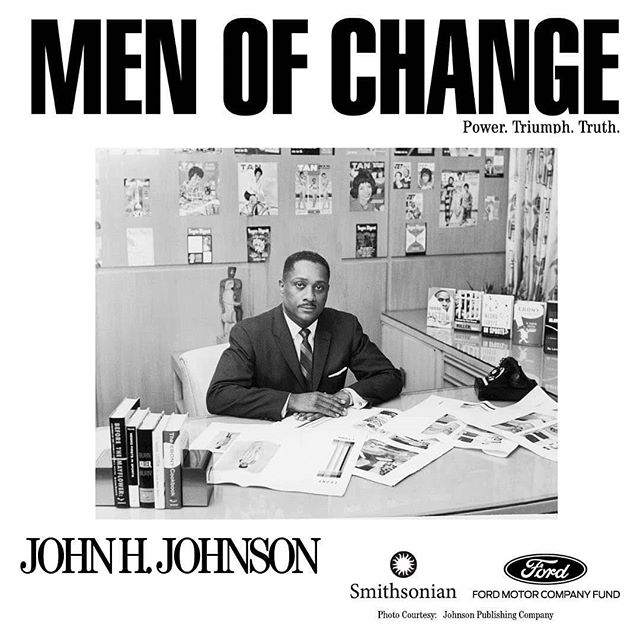 Reposted from @sitesexhibitions (@get_regrann) -  Beginning in 1942, John H. Johnson did more than inject color into the ultra-white world of American magazine publishing— he created an empire unlike any the world had ever seen.  From Negro Digest to the iconic Ebony and Jet magazines, Johnson changed the landscape of print journalism by offering authentic portraits of both the ordinary and extraordinary aspects of black life.  See #menofchange now on view @freedomcenter! #inspirationalblackmen  #menofchange #blackmensguide #history #america #blackman #publishing