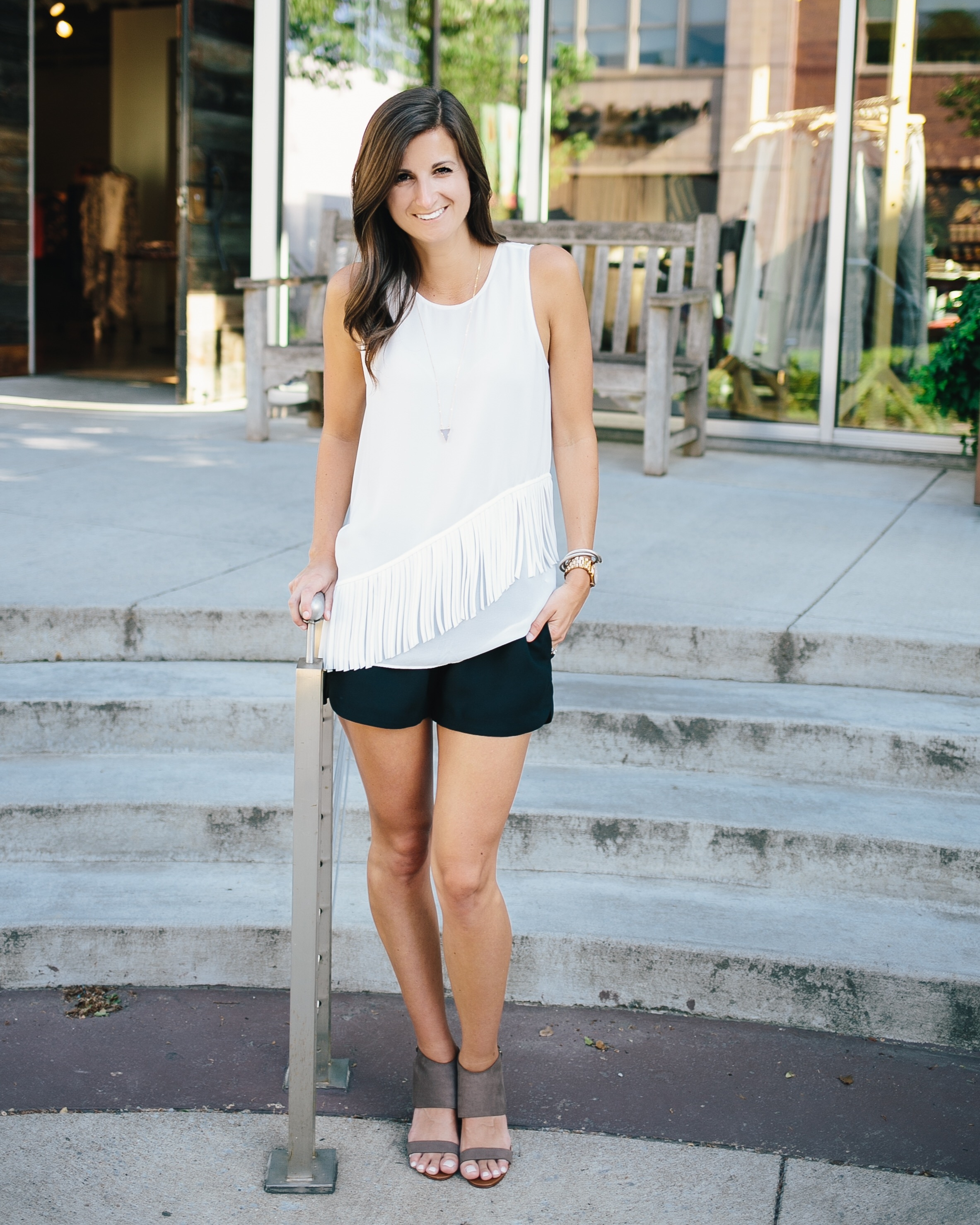 Photography by  Madi Flournoy Henderson   Top:  Fab'rik  - Shorts:  Madewell  - Shoes:  Halogen