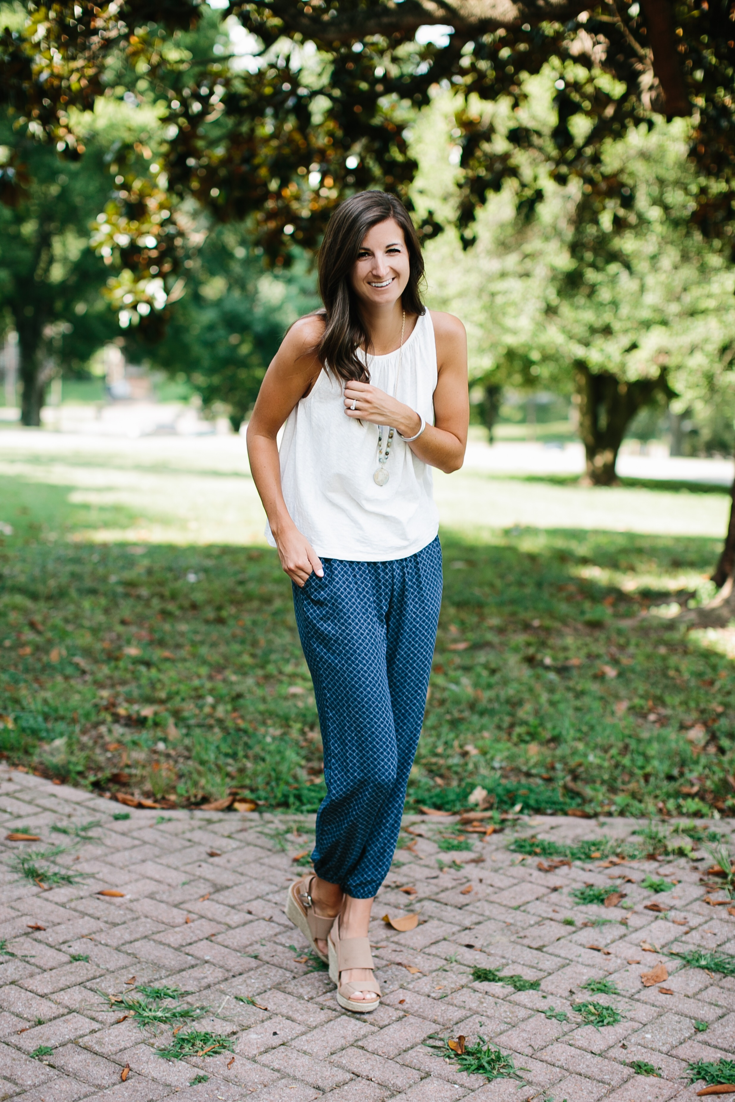 Photography of  Madi Flournoy Henderson  || Shirt:  Madewell  || Pants:  Soft Joie
