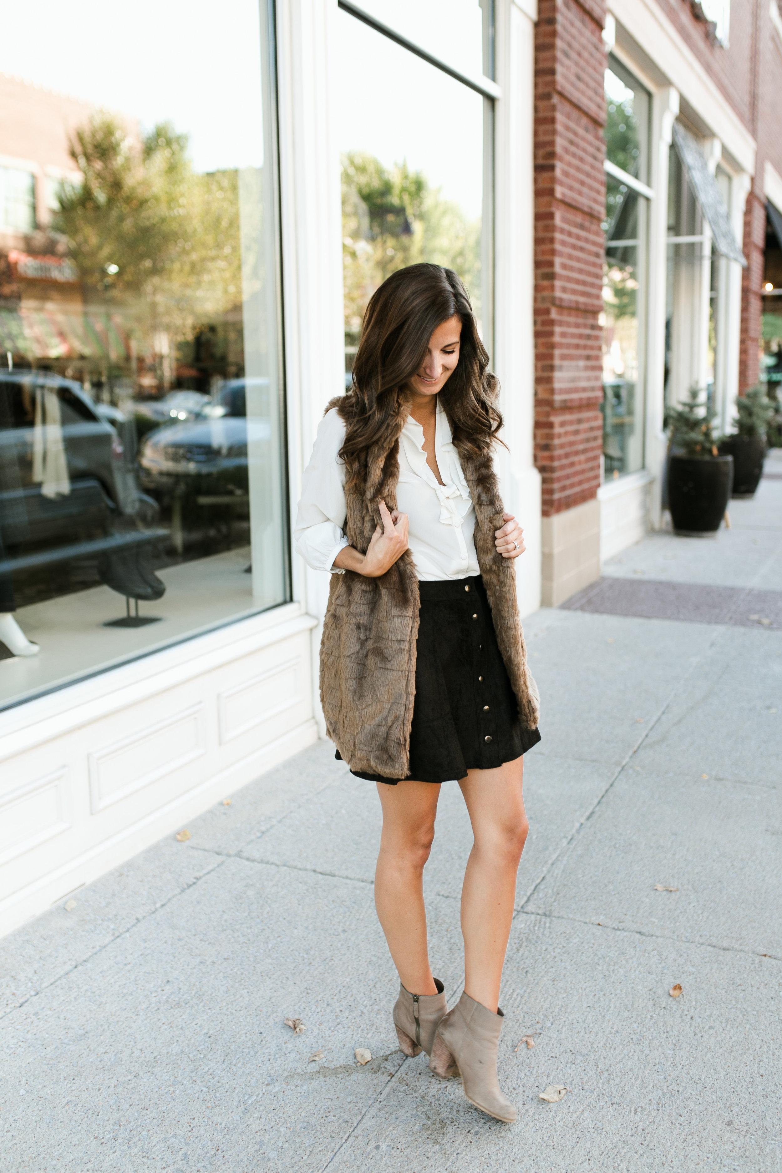 Photography by  Madi Flournoy Henderson || Vest & Skirt:  Fab'rik