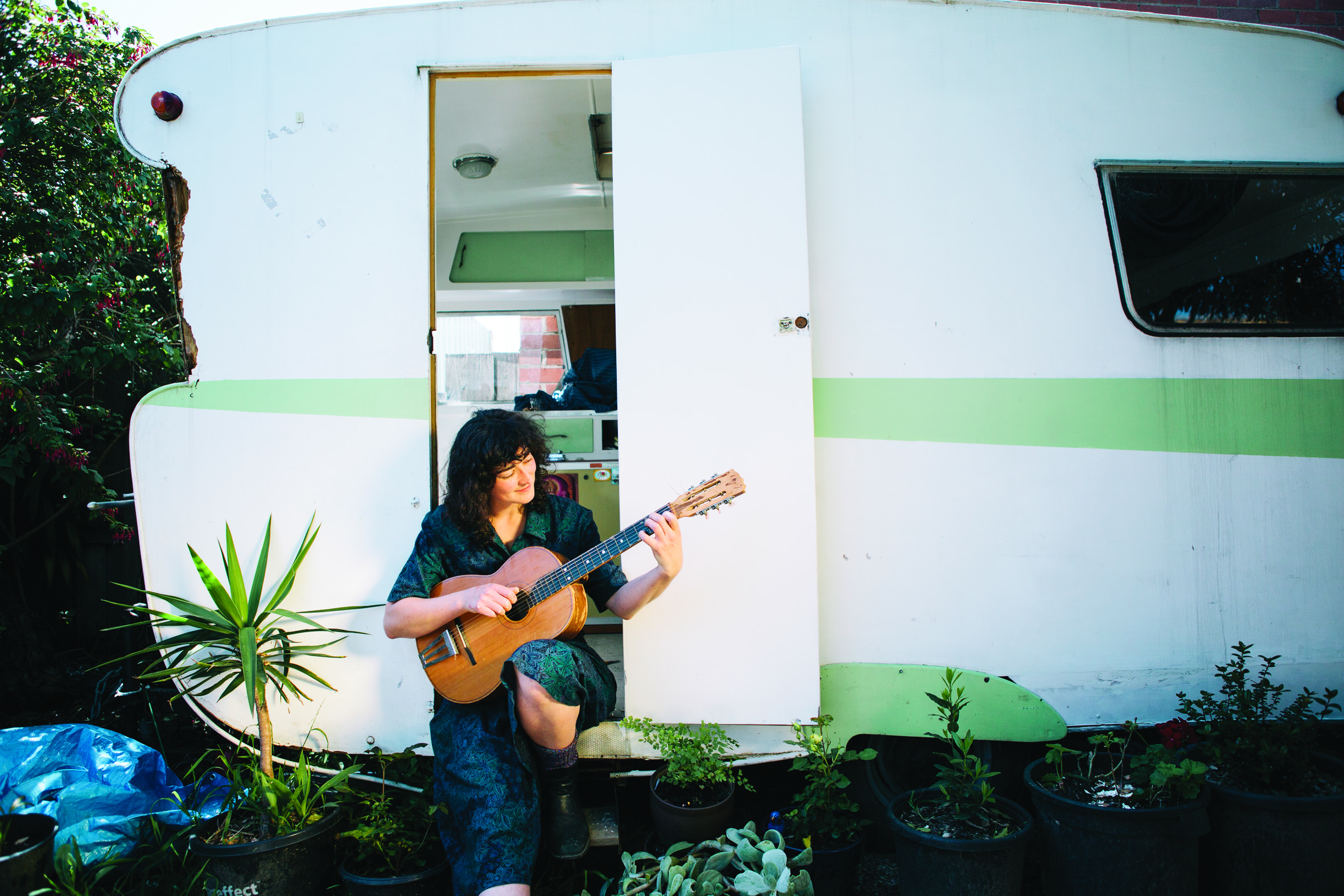 Steph Brett, musician at home in Northcote, Victoria, October 2016 for The Northsider