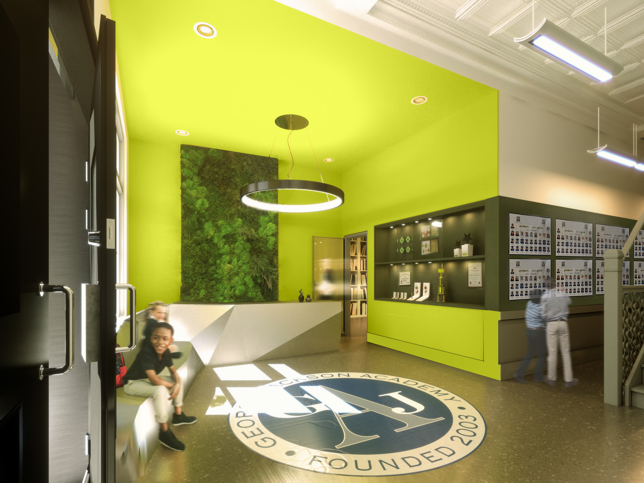 Project:  George Jackson Academy  in NYC // Photo: Courtesy of Rise Projects