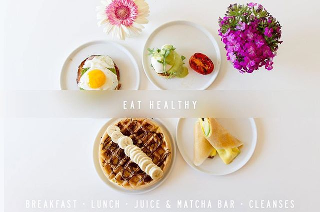 Eat Healthy #greentablesb #eathealthy #glutenfree #matcha #matchabar #sbfitt #breakfast #lunch