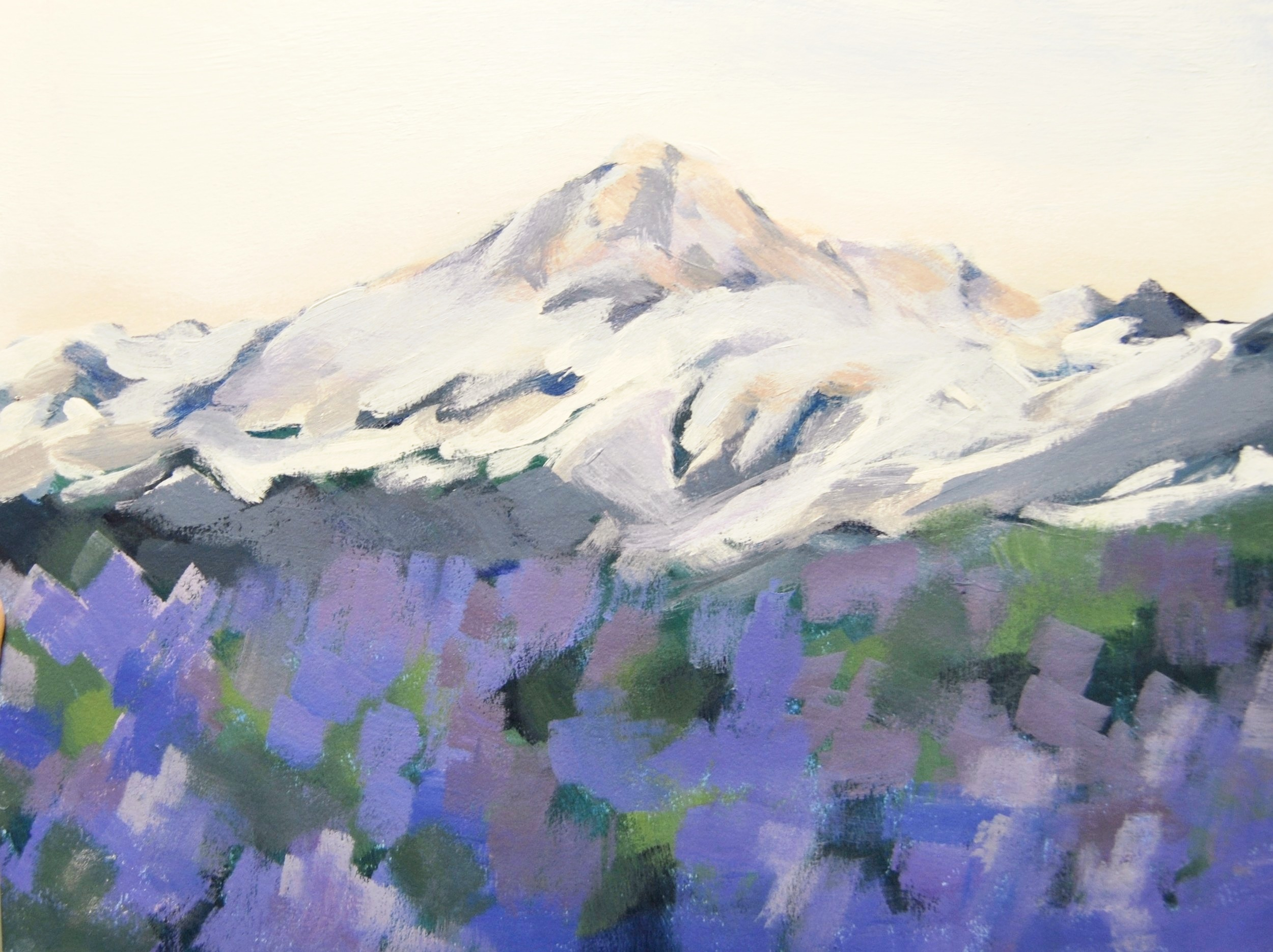 "Mount Baker Wildflowers. Acrylic on canvas. 9x12"". 2016. *sold"