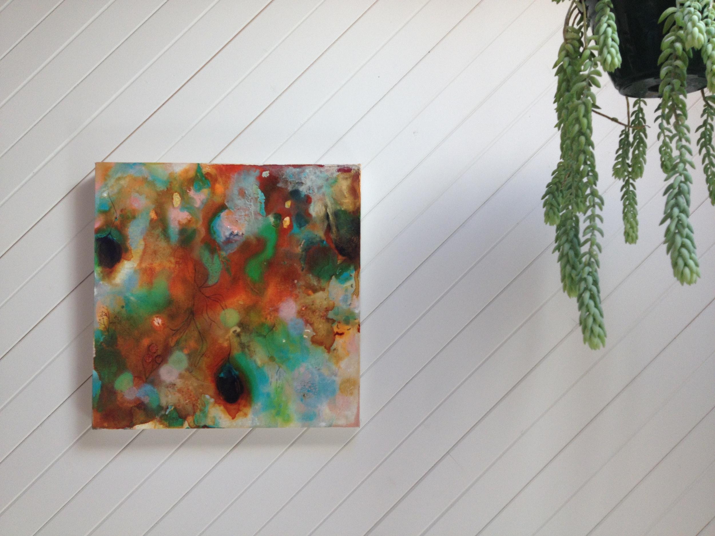 Liza's artwork takes pride of place in the Zenibaker studio.