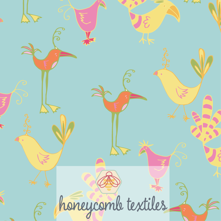 Fabric: Silly Birds 02, available in a range of fabrics.