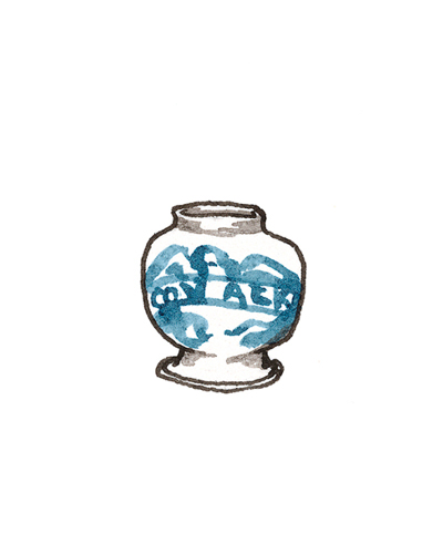 London, England   Apothecary Jar, 1675-1700  Tin-glazed earthenware, 1964.29