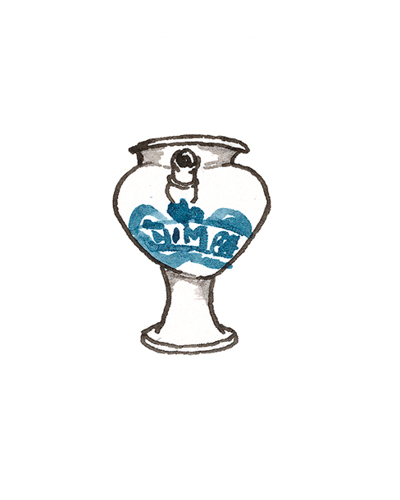 London, England   Apothecary Jar, 1670-1700  Tin-glazed earthenware, 1964.30