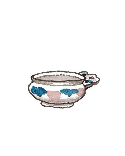 London, England   Porringer, 1680-1710  Tin-glazed earthenware, 1991.13