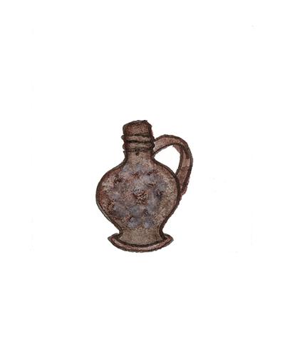 Southwark, England   Wine Bottle, 1640-1660  Tin-glazed earthenware, 1992.15