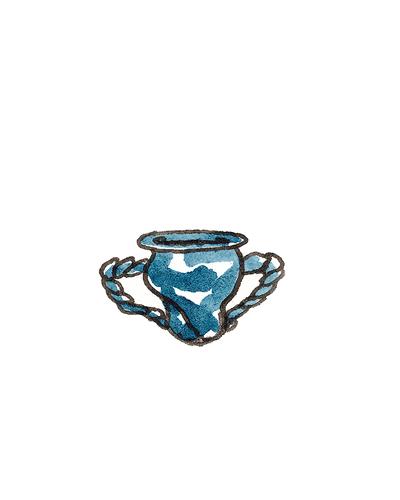 London, England   Miniature Vase or Flower Pot, 1680-1710  Tin-glazed earthenware, 1992.16