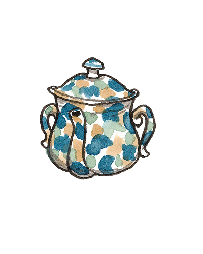 London, England   Posset Pot, ca. 1680  Tin-glazed earthenware, 1992.21