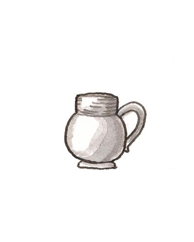 Attributed to John Dwight (ca. 1636— 1703), Staffordshire, England   Mug, ca. 1680  Salt-glazed stoneware, 1994.6