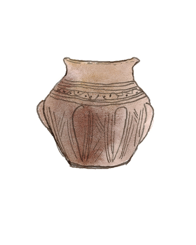 Anglo   Urn, 500-600 A.D.  Earthenware, 2000.10