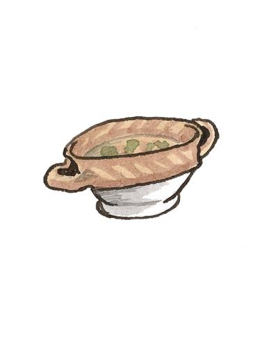 Dutch   Porringer, ca. 1650  Slip-decorated earthenware, 2007.10