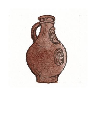 German   Bellarmine, ca. 1660  Salt-glazed stoneware, 2000.71