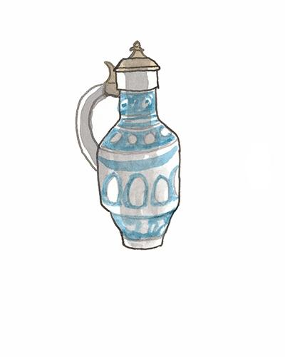 Rhenish    Jug, 1583  Salt-glazed stoneware, 2013.24
