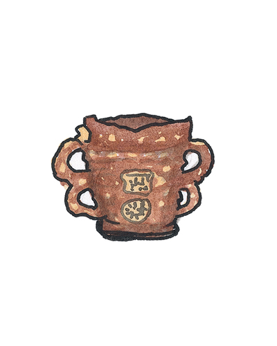 Wrotham, England  Tyg, 1649  Slip-decorated earthenware, 1963.15