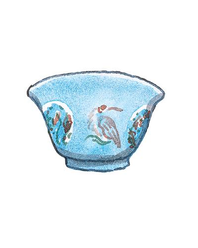 China and London, England   Bowl, 1680-1700  Porcelain, enamel, 2003.41