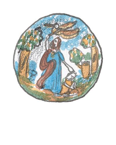 London, England   Dish, ca. 1660  Tin-glazed earthenware, 2013.2