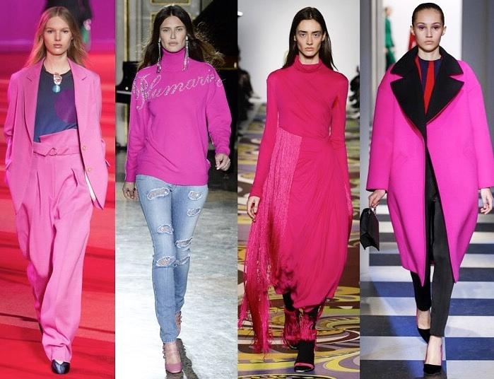 Photo Credit: Vogue Runway, from left: 3.1 Phillip Lim, Blumarine, Emilio Pucci, Oscar de la Renta