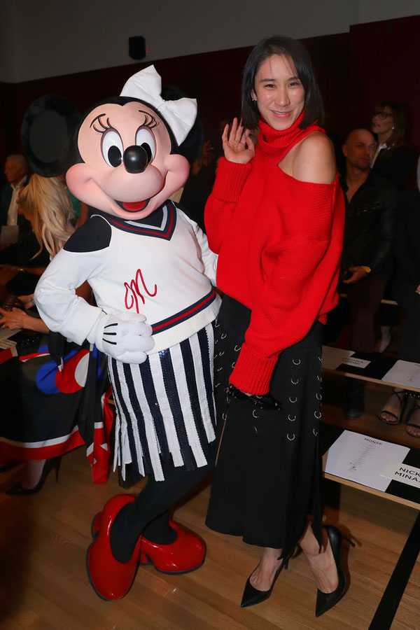 Minnie Mouse and Eva Chen, head of partnerships at Instagram