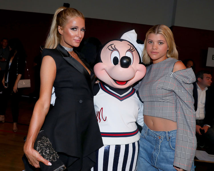 Paris Hilton, Minnie Mouse, and Sophia Richie