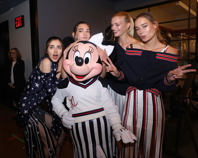 Minnie Mouse with Models from the Monse Show