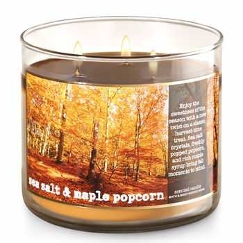 Bath and Body Works Sea Salt and Maple Popcorn Candle