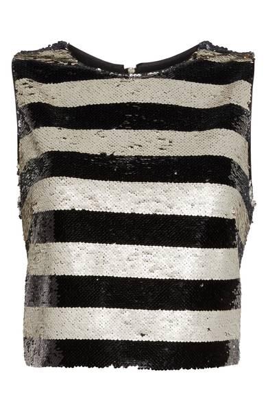 Eliza J Sequin Stripe Top