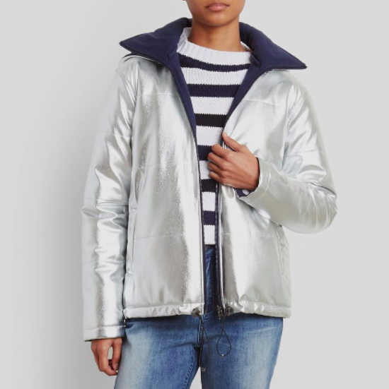 Kenneth Cole Silver Jacket, $189