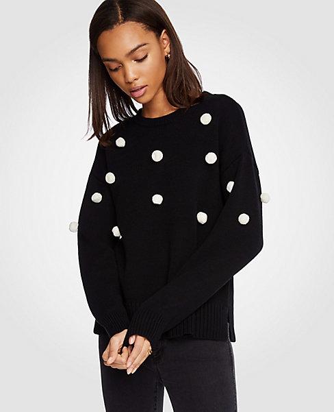 Ann Taylor Pom Pom Sweater, $90