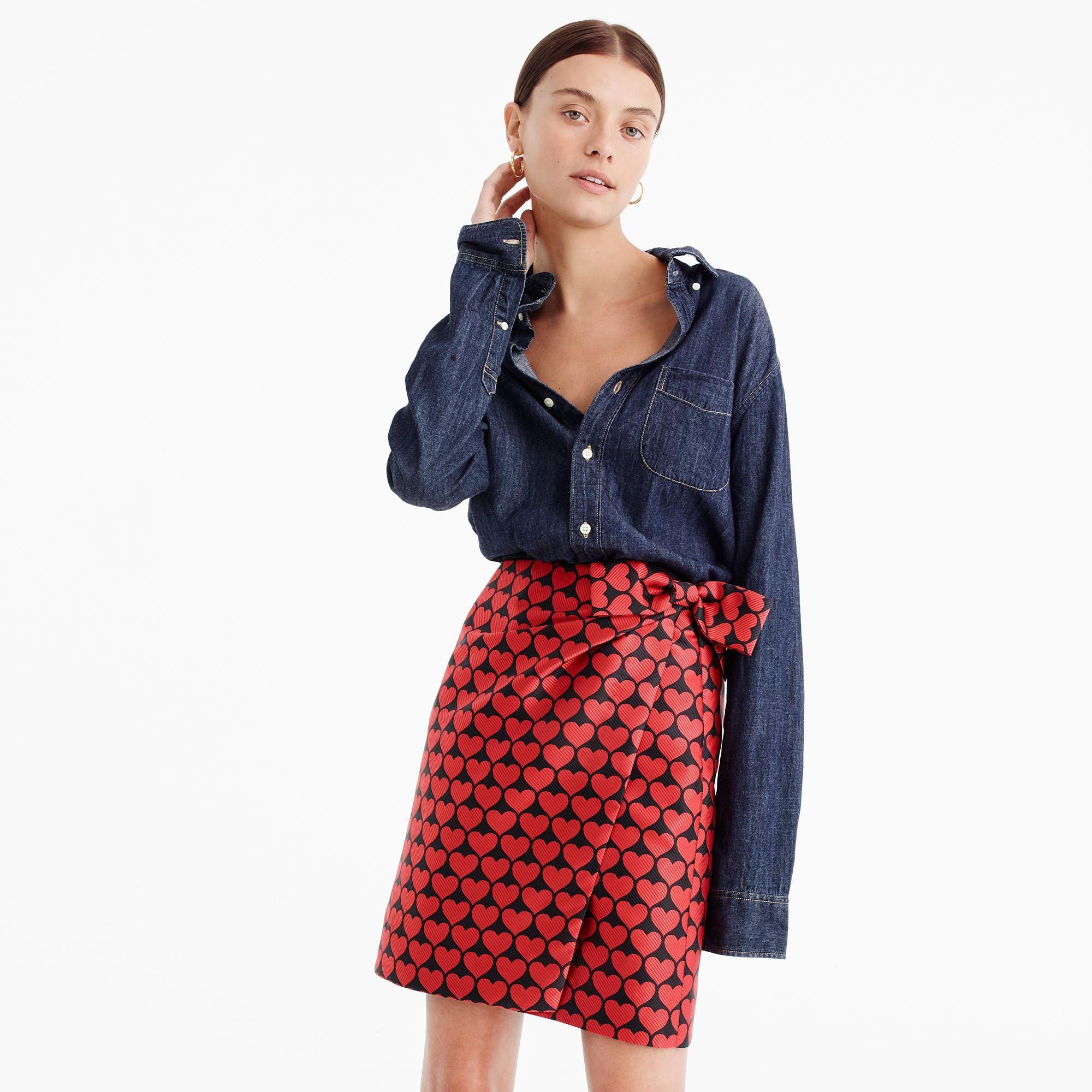 J. Crew Heart Skirt, $58
