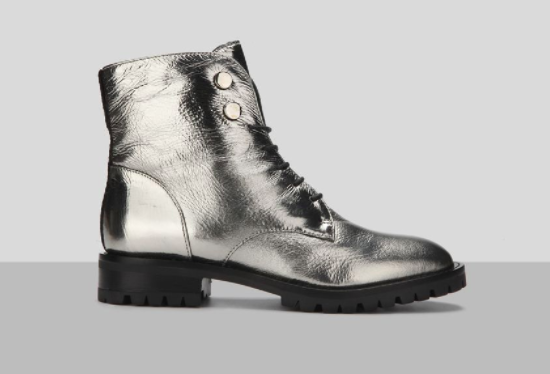 Kenneth Cole Silver Boots, $199