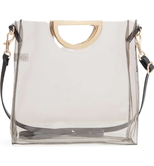 BP Mini Translucent Metal Handle Bag, $39