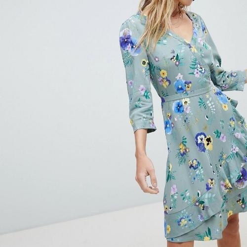 ASOS Oasis Floral Wrap Tea Dress, $76