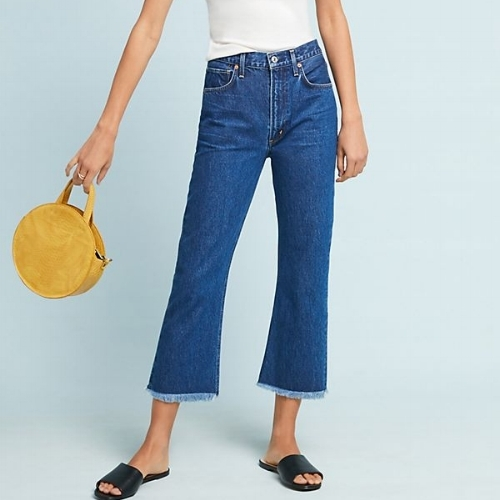 Citizens of Humanity Estella Cropped Flare Jeans, $228