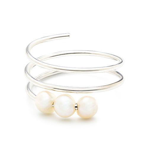 Noor Shamma Troika Spiral Knuckle Ring in White Gold Prettiest Pearl Accessories.jpg