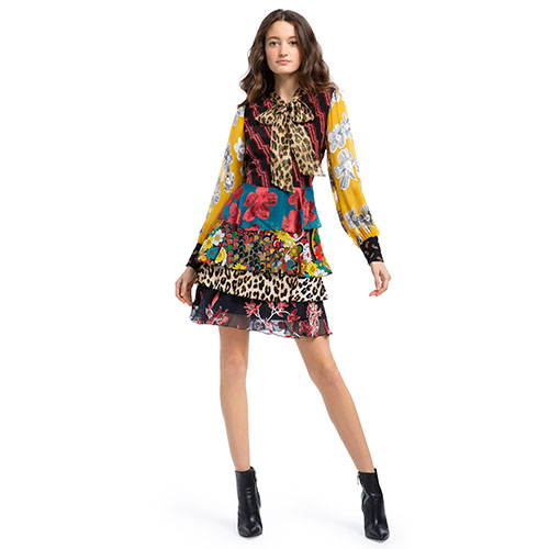 DASHA TIERED MINI DRESS  mised print dresses.jpg
