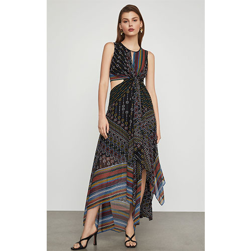Mixed Prints Knot-Front Dress mixed print dress.jpg