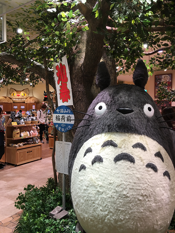 If you're lucky, you will spot your neighbor, totoro inside Lucua at the ghibli store