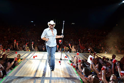 1. Toby Keith:  Toby Keith had a late start to his career. He put out his first solo album at the age of 32 but still managed to become one of the richest country singer's in the world. Most people don't know this but Keith founded a record label that later signed Taylor Swift and Tim McGraw among others. He sits at #1 on our list with a net worth of $500 Million.