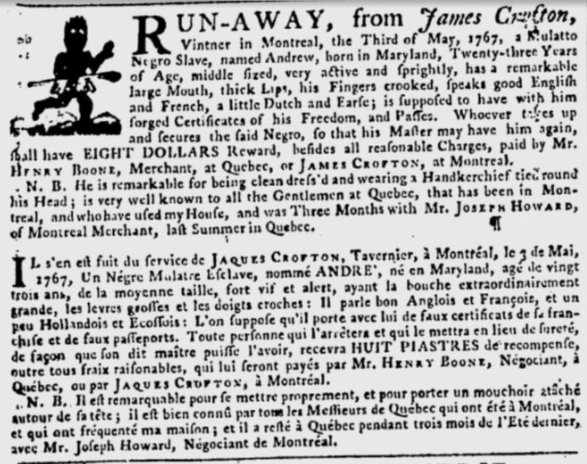 Gazette de Québec - 21 mai 1767