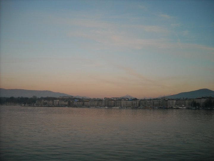 Sunset in Geneva