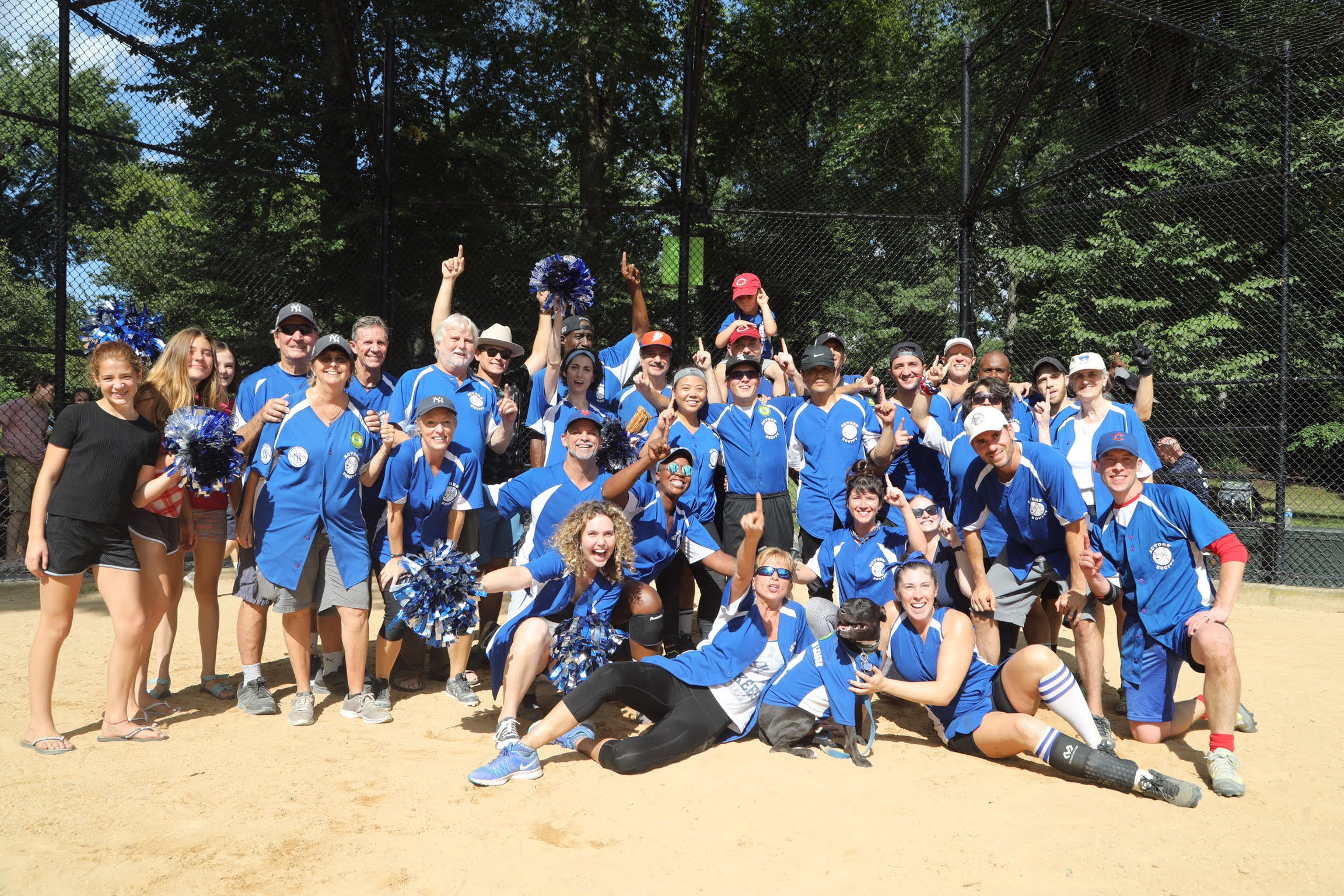 Undefeated softball champs - with Actors Equity as part of The Broadway Show League