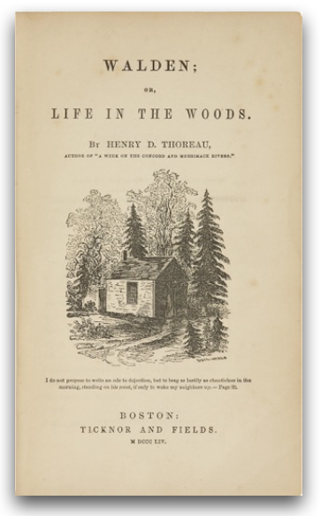 The inspiration for the name of the firm was from the Book  Walden, or Life In The Woods , by Henry D. Thoreau