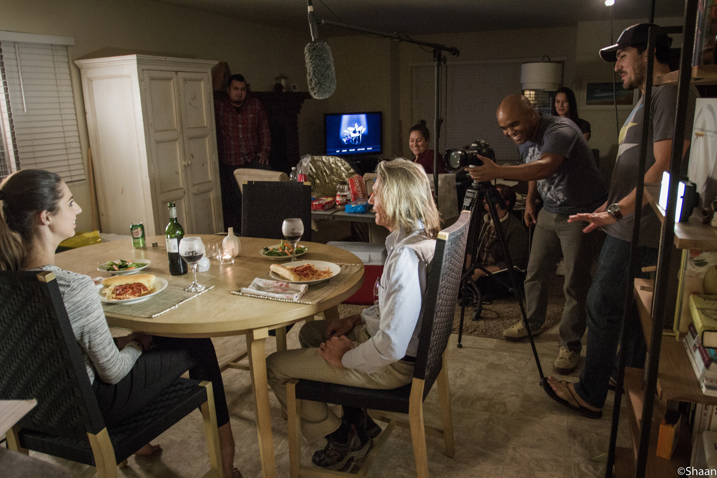 Director of Photography David Brooks frames our actors for the opening scene. (Photo: Shaan Couture)