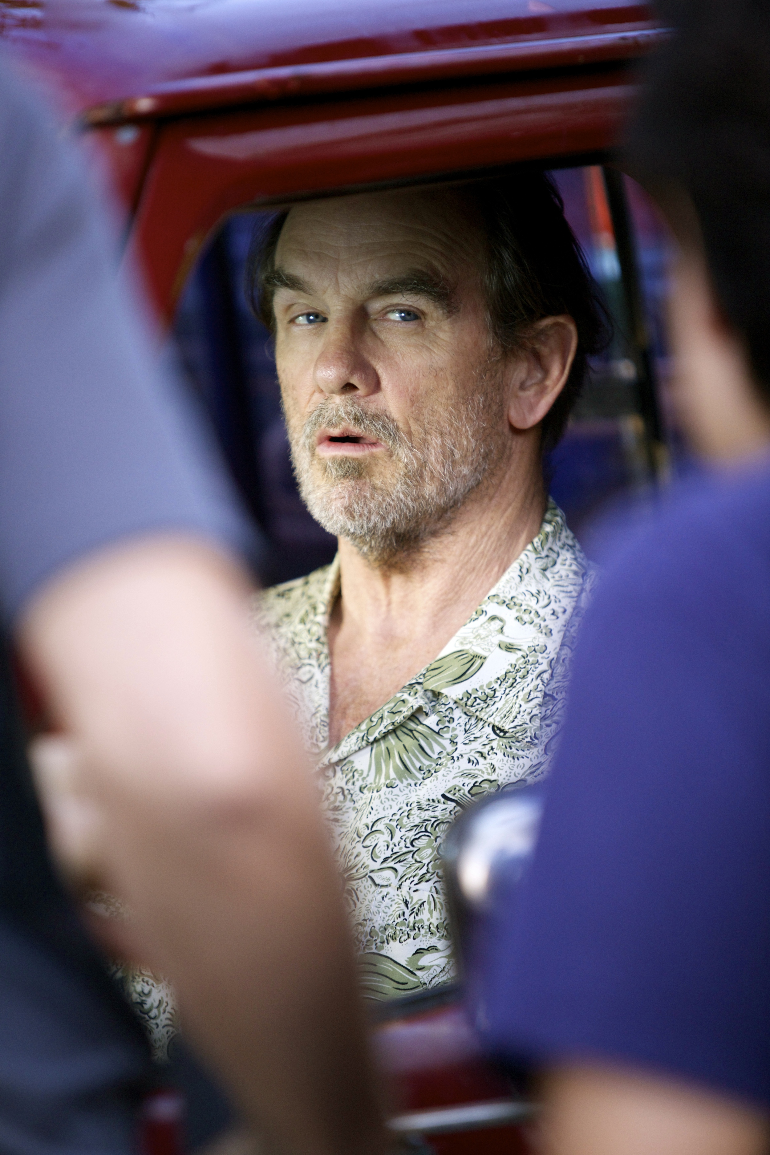 Award winning actor  John Diehl gets framed for the opening shot in the film. (Photo: Ashley Smith)